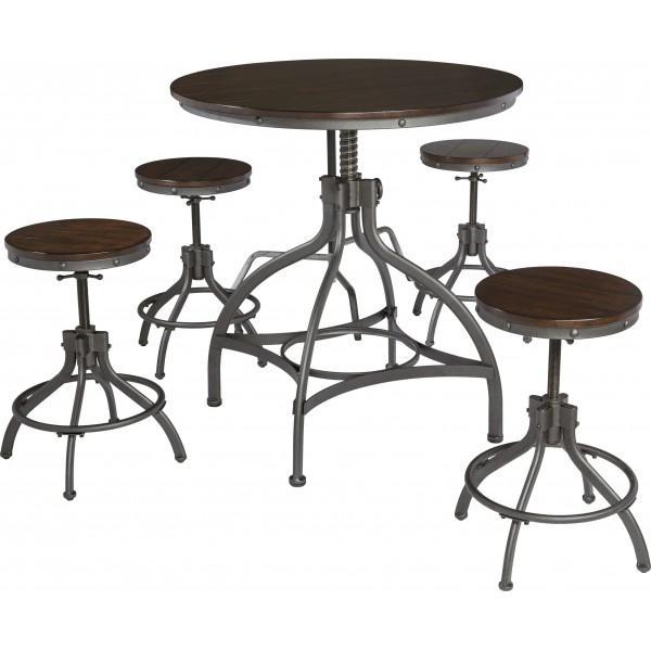 Стол обеденный со стульями ASHLEY D284-223